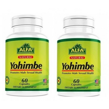 YOHIMBE pack 2 botes 120 capsulas- Afrodisiaco Natural