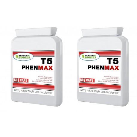 T5 PHENMAX pack de 2 botes 180 capsulas 60x2