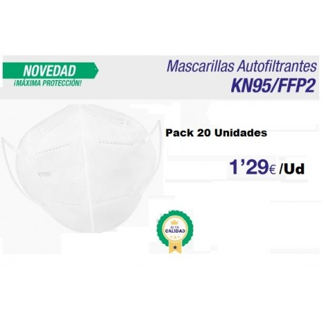 pack 5 Mascarillas ffp2 protecccion coronavirus
