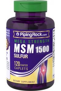 Mega MSM + Sulfuro, 1500 mg, 120 Comprimidos eliminar metales pesados
