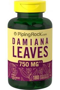 DAMIANA LEAVES 750 mg 180 Capsulas liberación rapida AFRODISIACO NATURAL