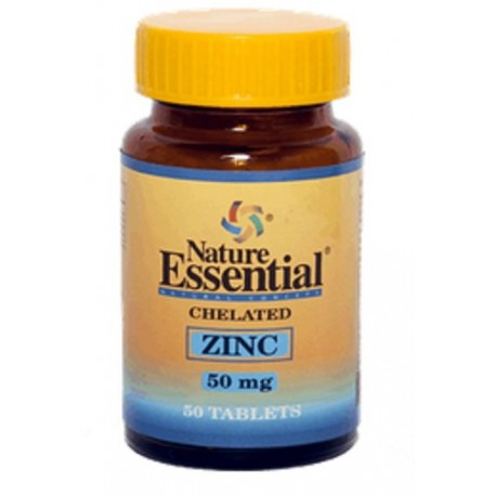 ZINC QUELADO 50 COMPRIMIDOS 50 MG.  NATURE ESSENTIAL ANTIOXIDANTE