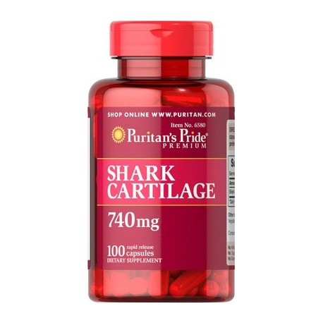 Cartilago de tiburon 740 mg 100 Capsulas Articulaciones Antiinflamatorio Natural