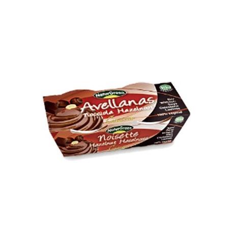 POSTRE DE AVELLANA CON CHOCOLATE BIO (2X125GR) NATURGREEN